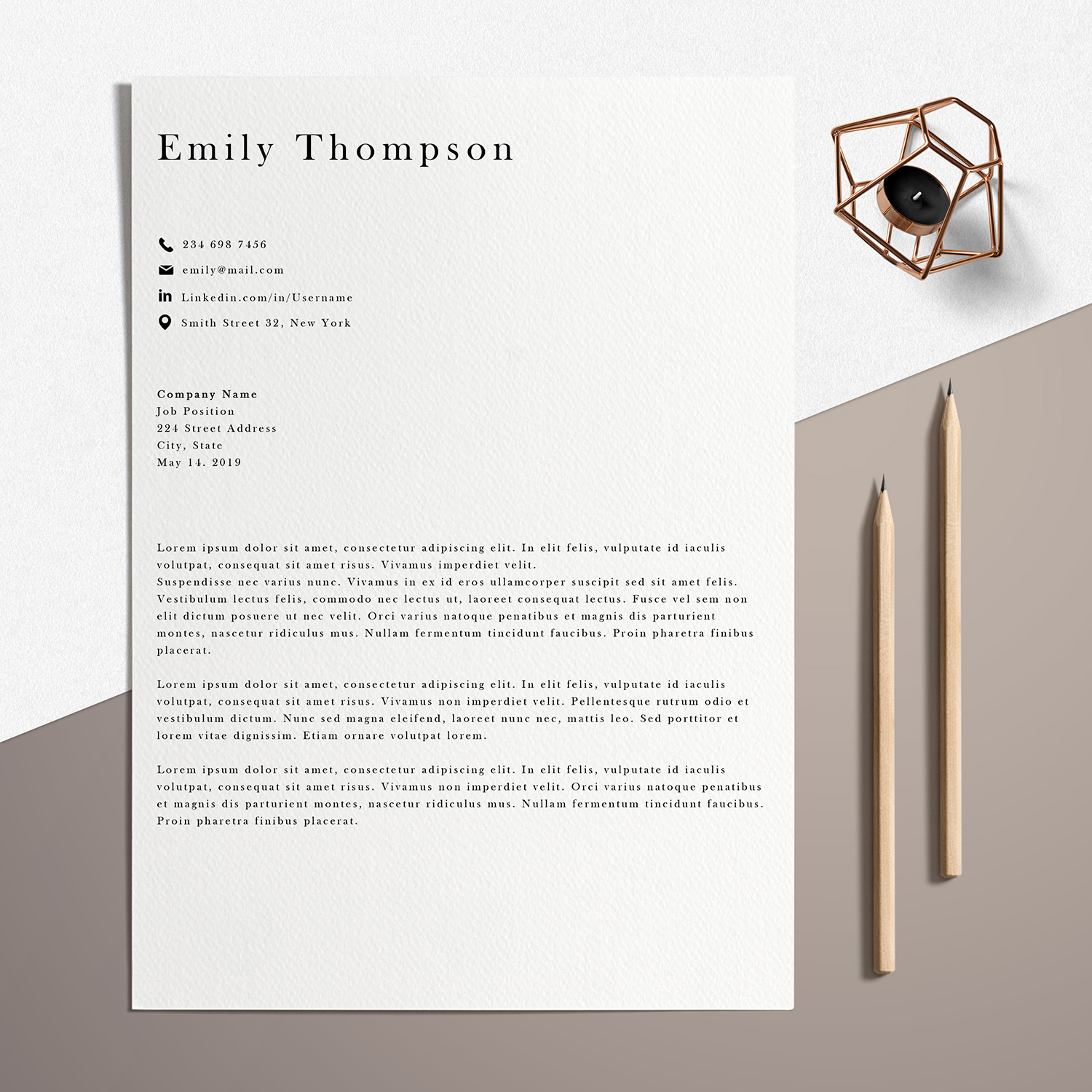 Resume Template | Photoshop CV Template - Emily example image 4