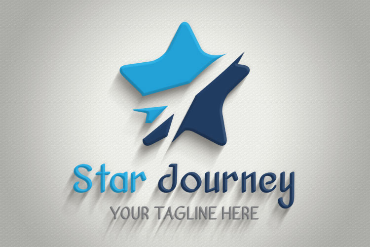 Airplane Star Travel Logo example image 2