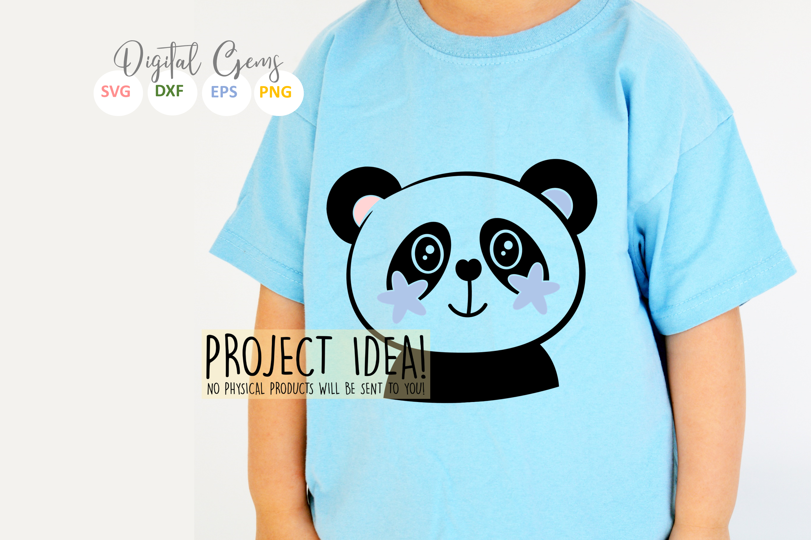 Panda designs. SVG / PNG / EPS / DXF Files example image 3