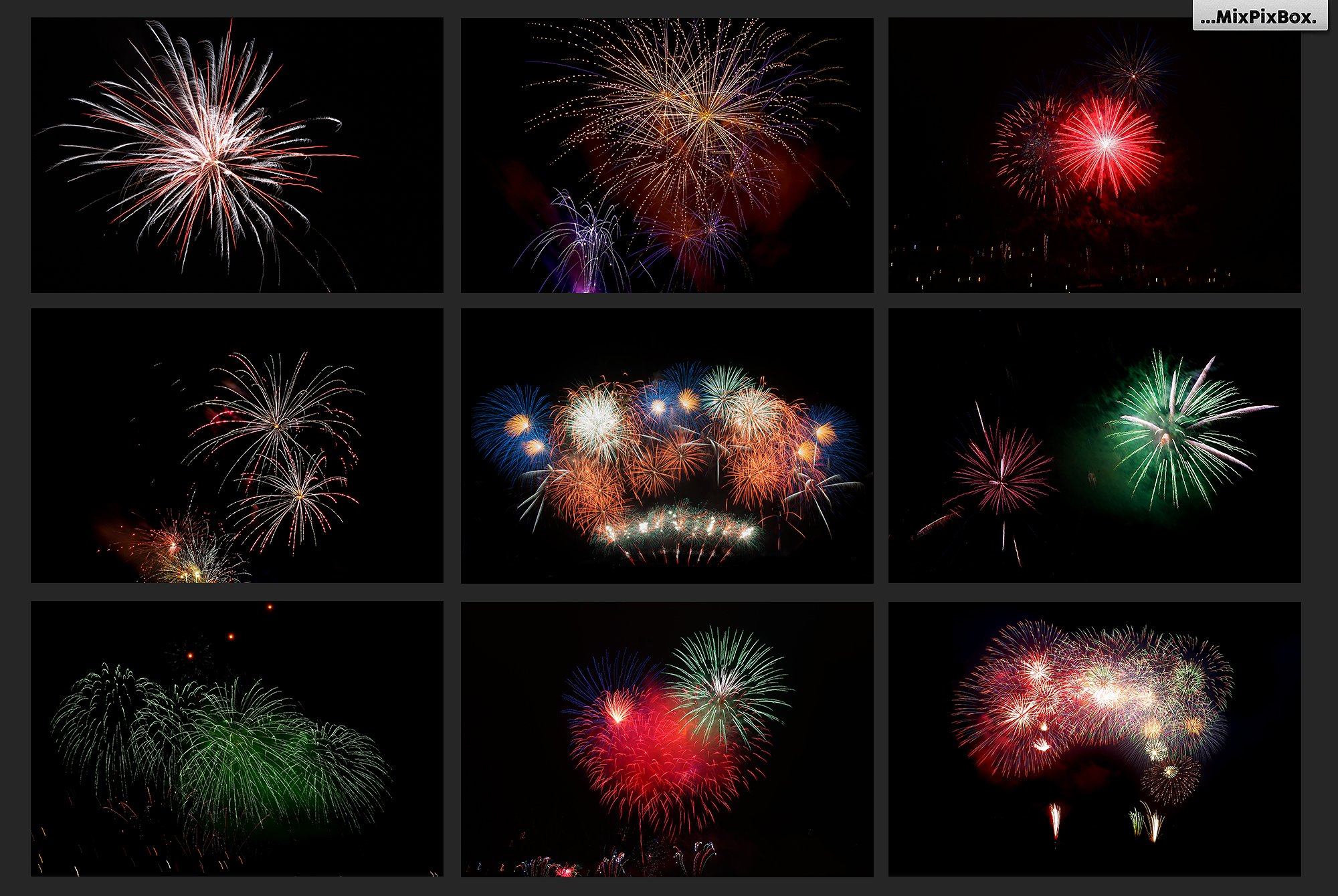 100 Fireworks Overlays example image 14