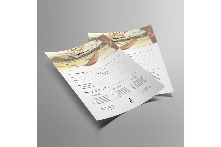 Registration Form Template v12 example image 3