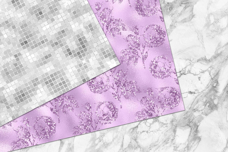 Glitzy Purple Digital Paper example image 5