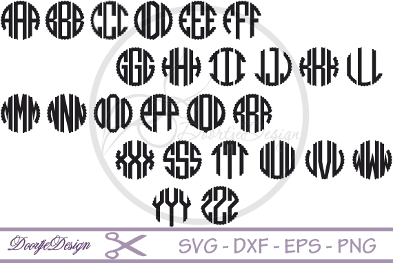 Scalloped Circle font SVG example image 2
