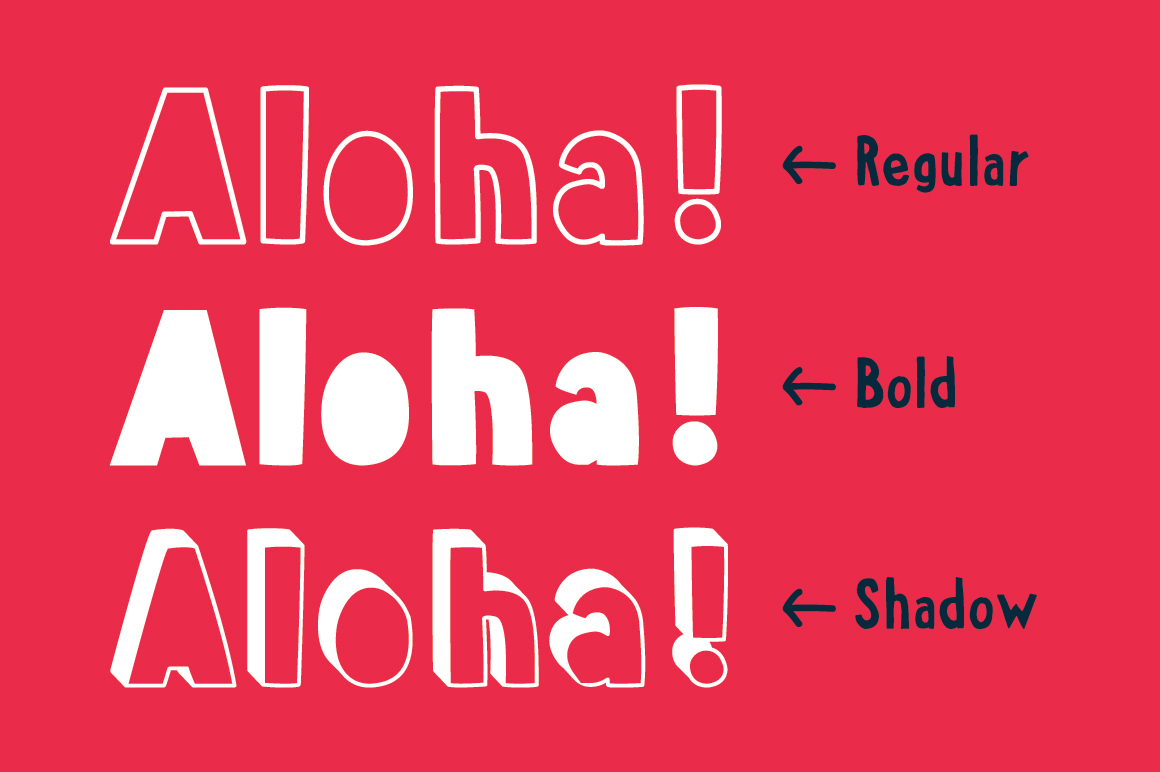 Aloha From Deer - Summer Font Family example image 5