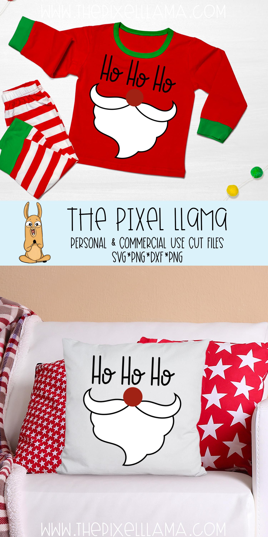Ho Ho Ho Santa Beard Christmas SVG example image 3