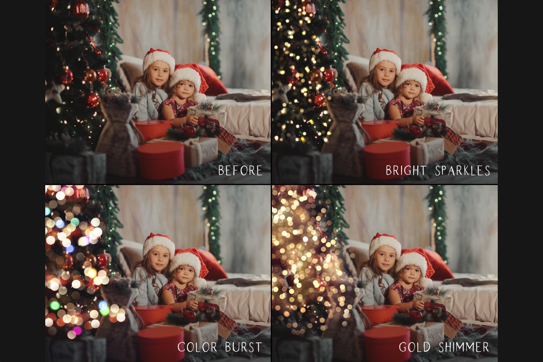 Christmas tree bokeh overlays example image 2