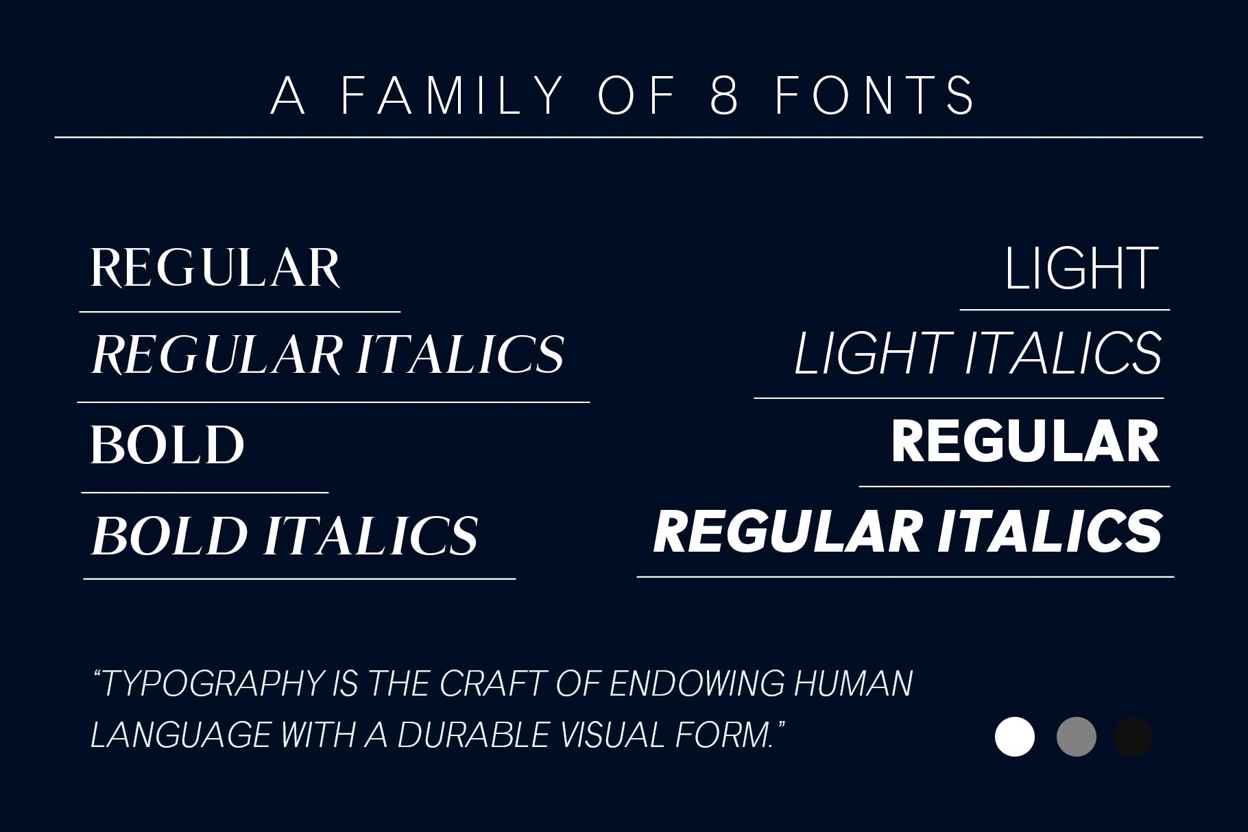 GENEVA - A family of 8 fonts example image 5