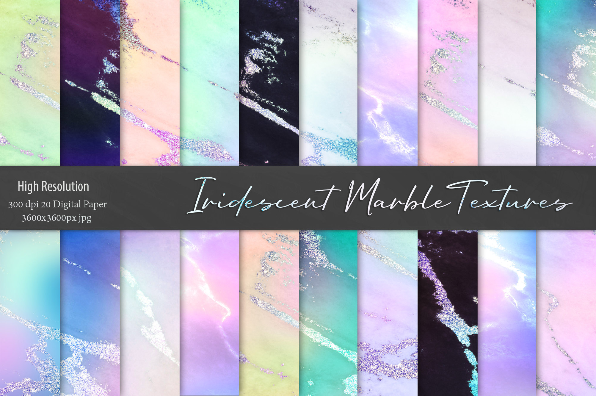 Iridescent Marble Textures example image 1