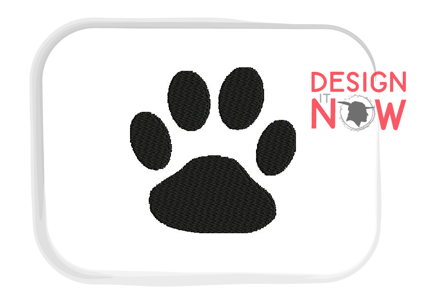 Paw Embroidery Design, Cat Dog Embroidery Pattern example image 2