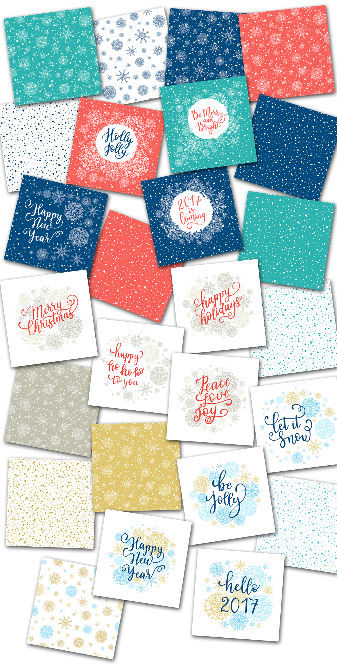 Christmas cards  overlays patterns example image 5