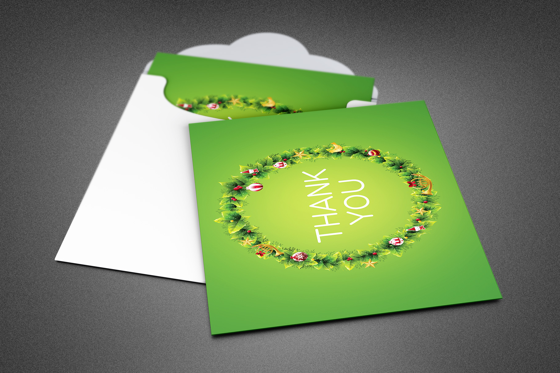 Christmas Ornament Thank You Card example image 1