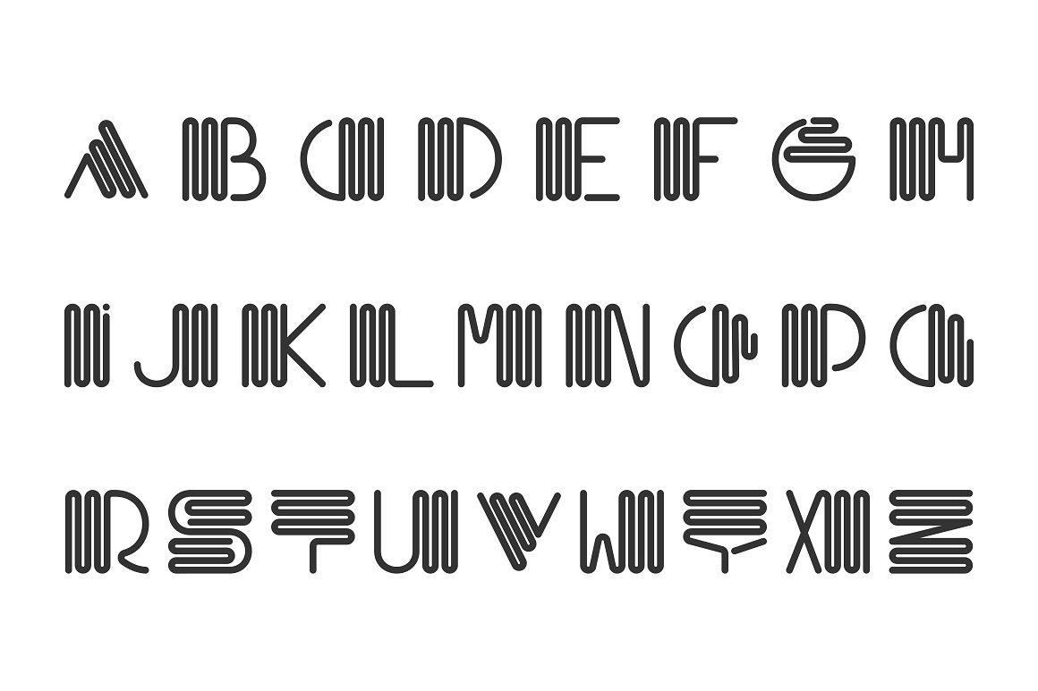 Alphabet set - creative font example image 5