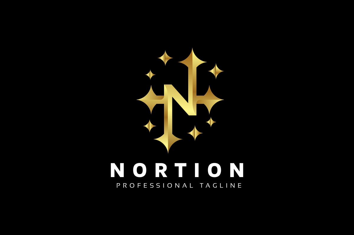 Nortion / N Letter Logo example image 1