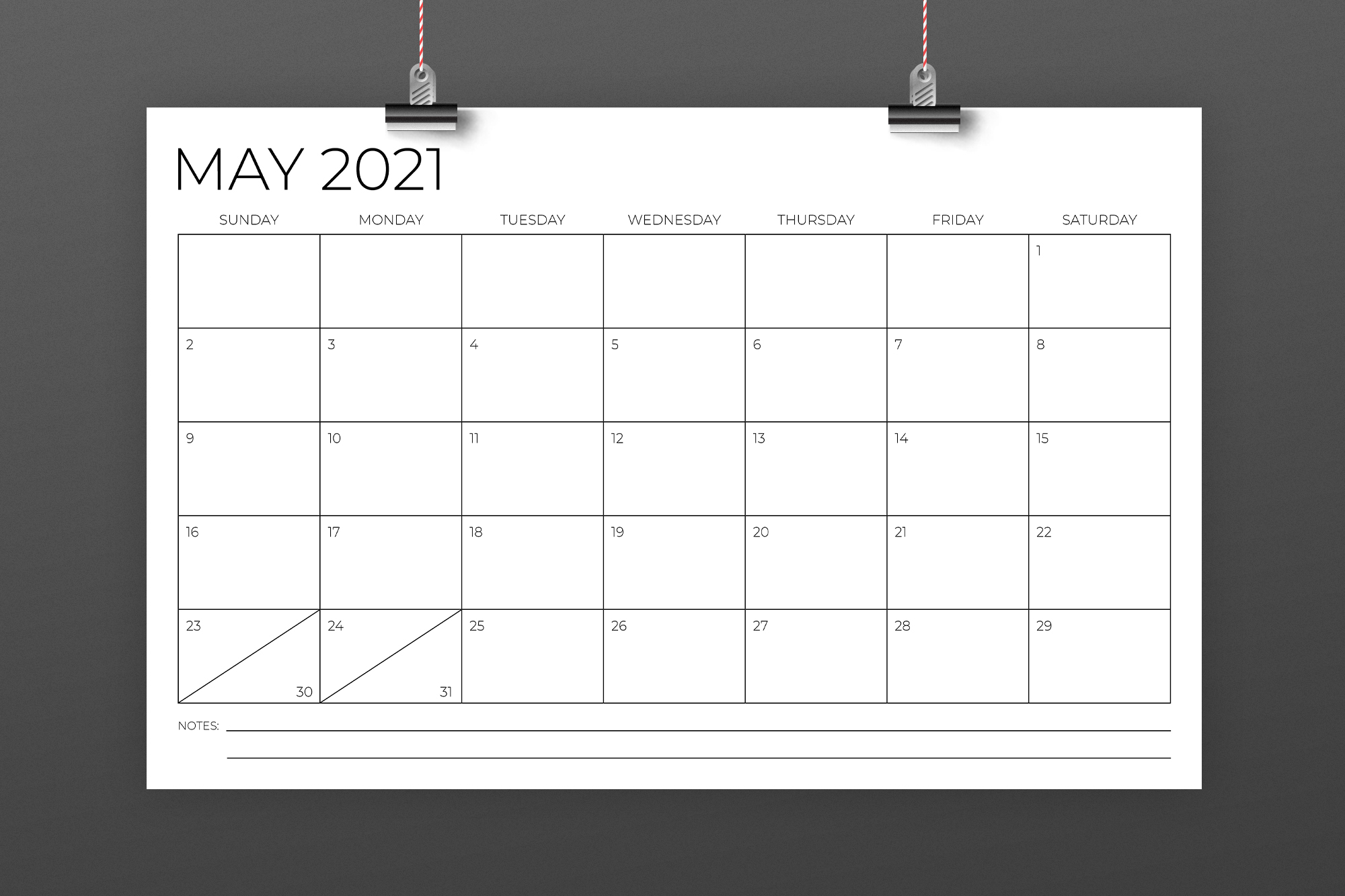 11 x 17 Inch Modern 2021 Calendar example image 3