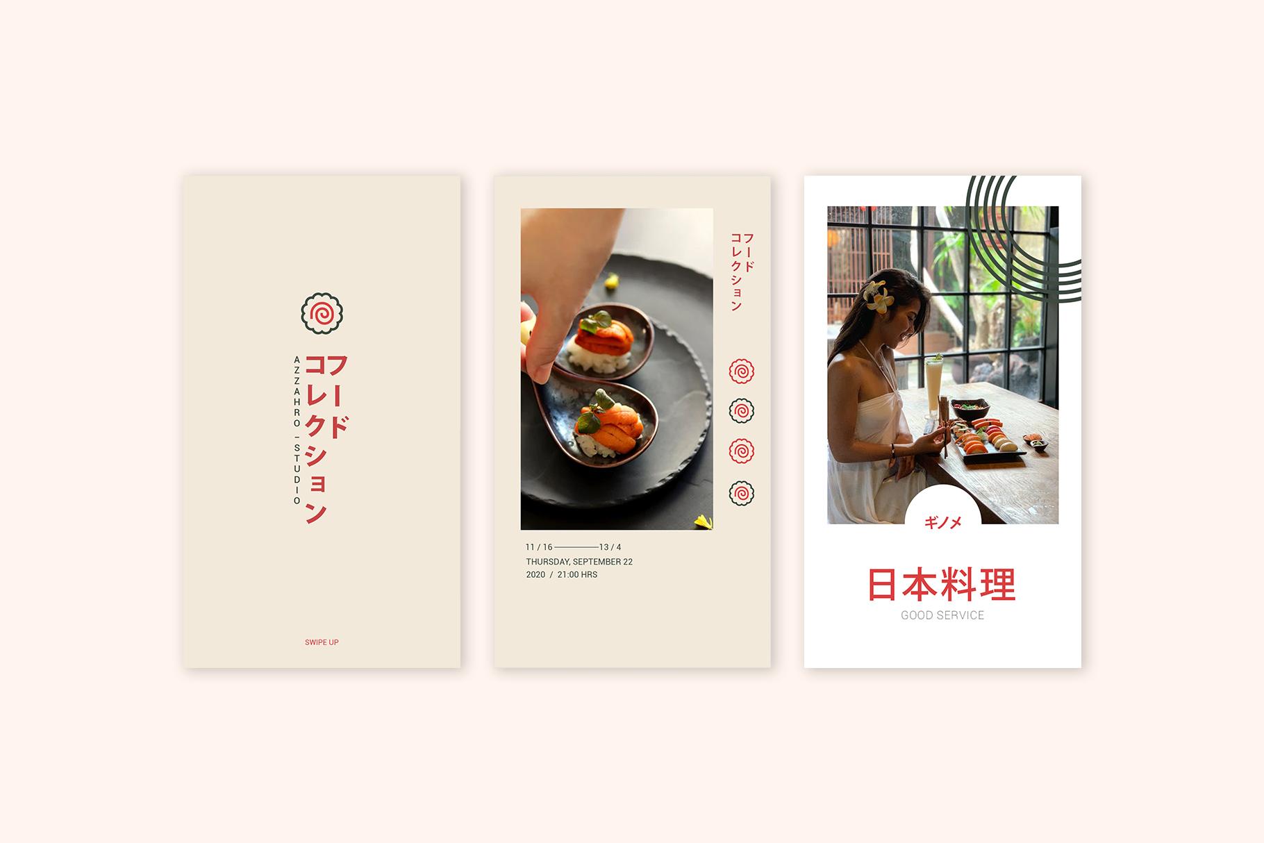 Japan Food Instagram Templates example image 5
