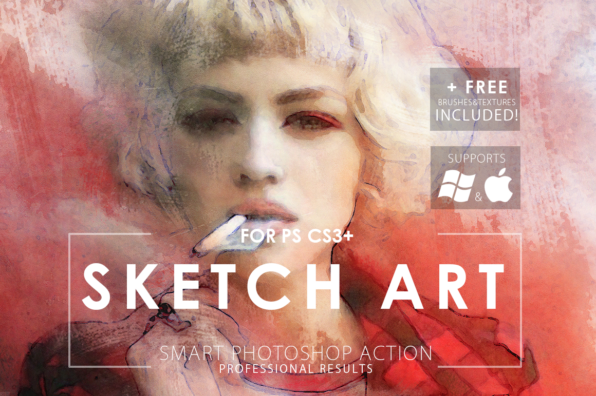 Sketch Art Photoshop Action example image 1