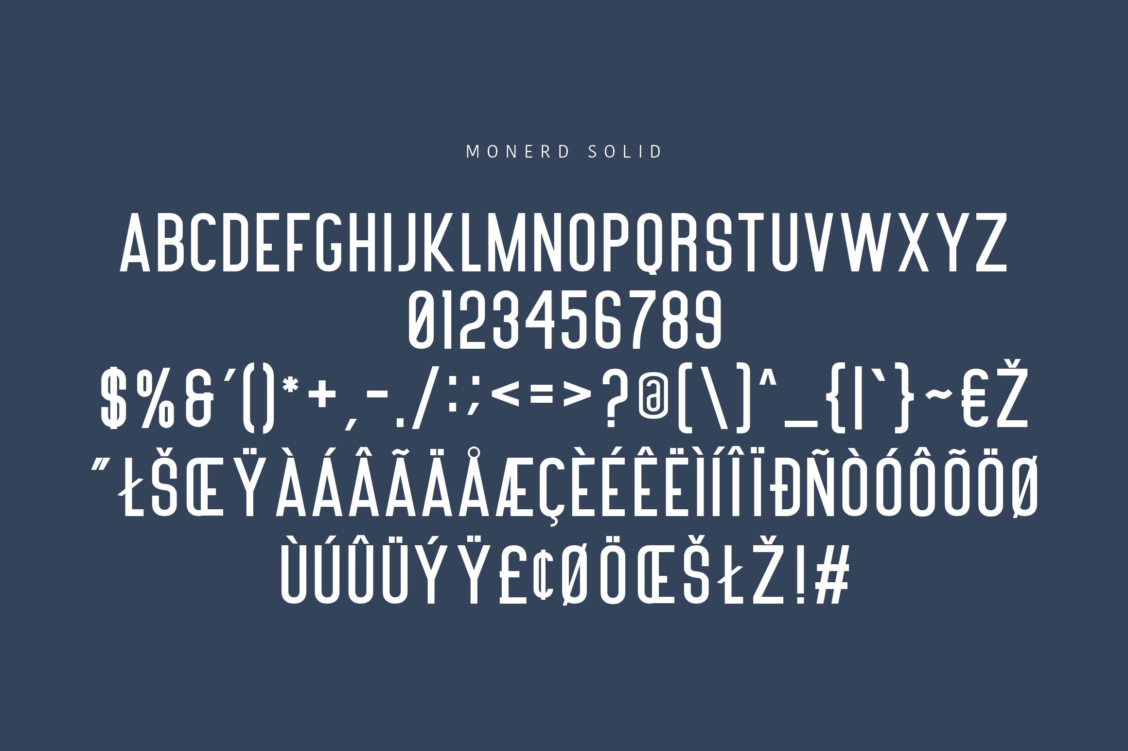 Monerd - Simply Sans Serif example image 12