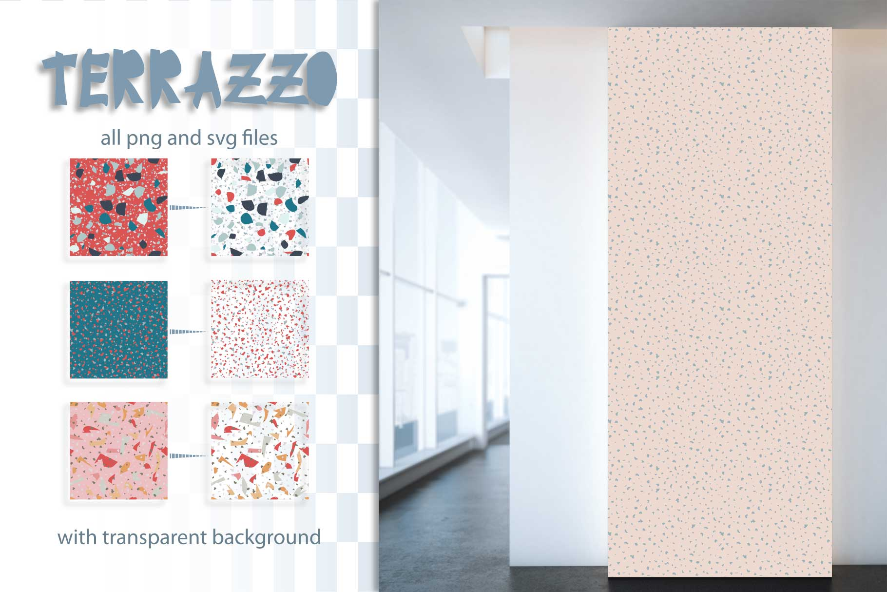 30 terrazzo seamless patterns example image 5