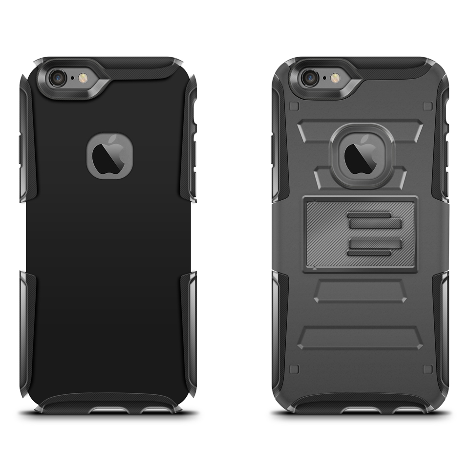 iPhone 6-6s Rugged Holster Case Mockup Back View example image 2