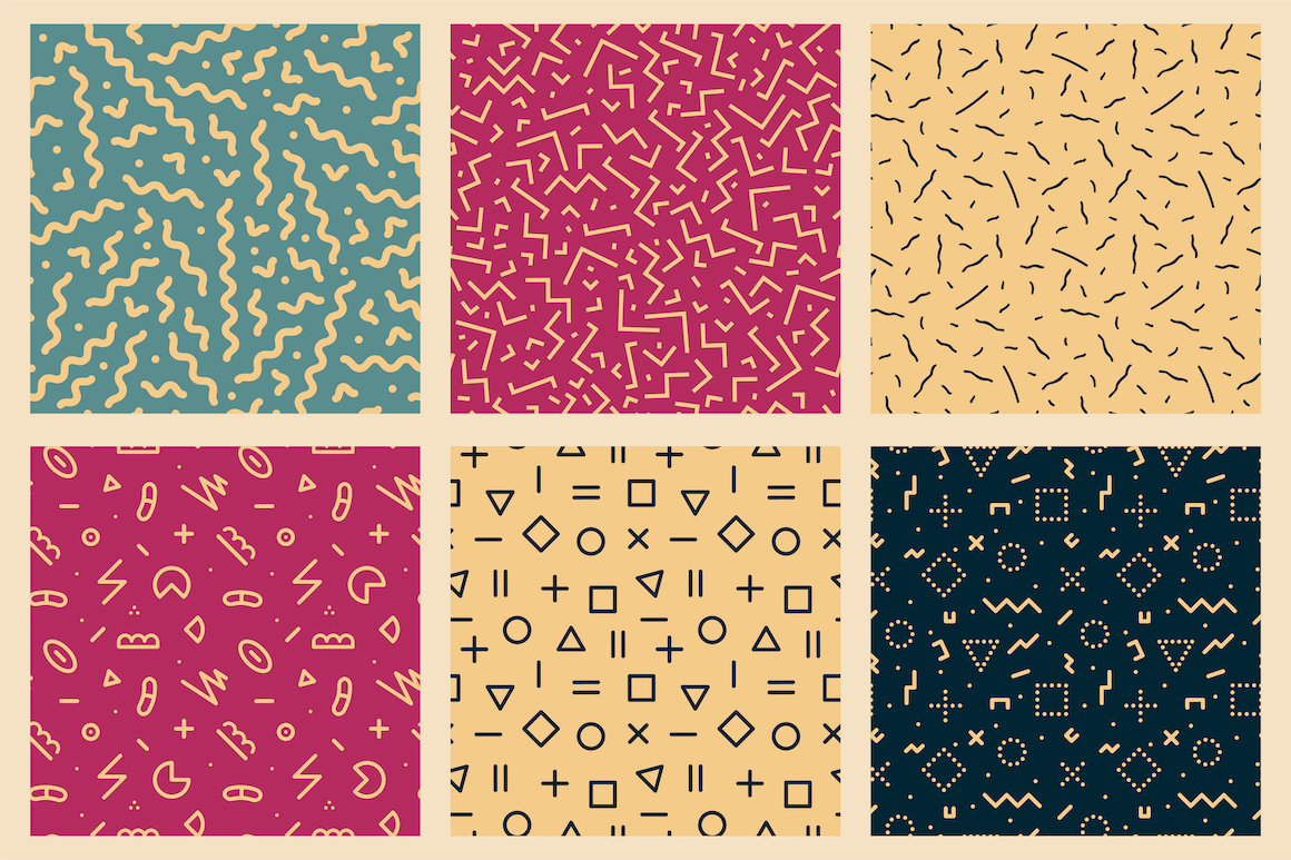 Trendy seamless abstract patterns example image 7