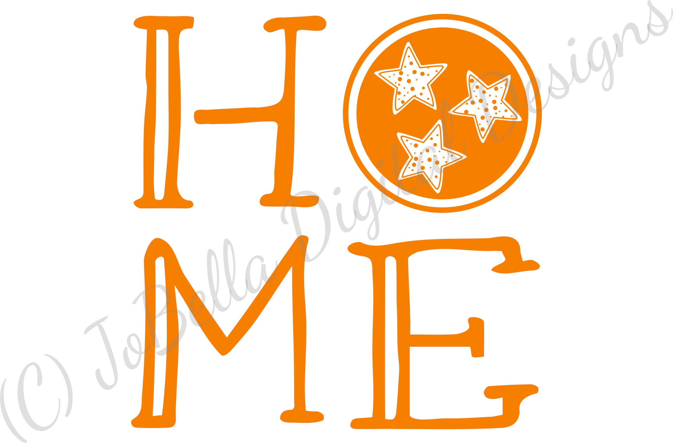 Home with Polka Dot TriStar SVG, Sublimation PNG & Printable example image 4