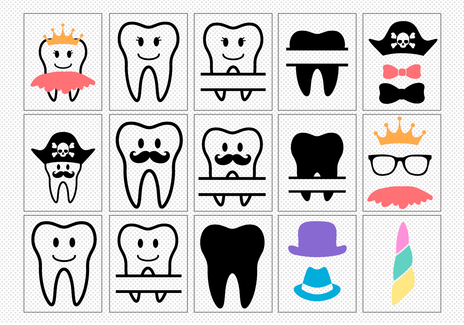 Make Your Own!! Tooth Fairy Cut File Bundle example image 3