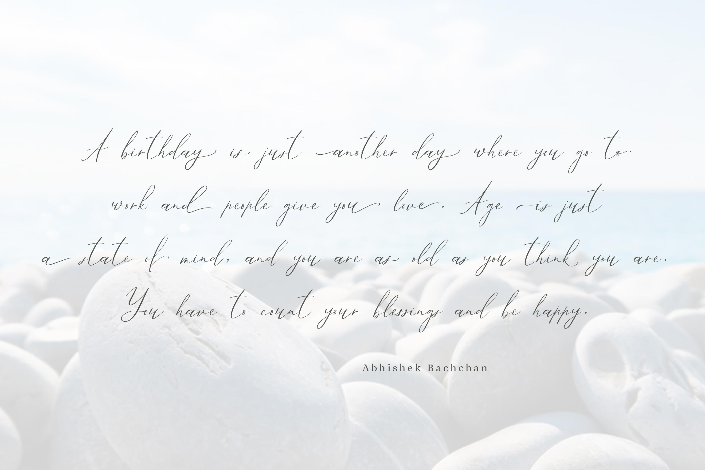 Ailre Heleris, an elegant script font example image 5