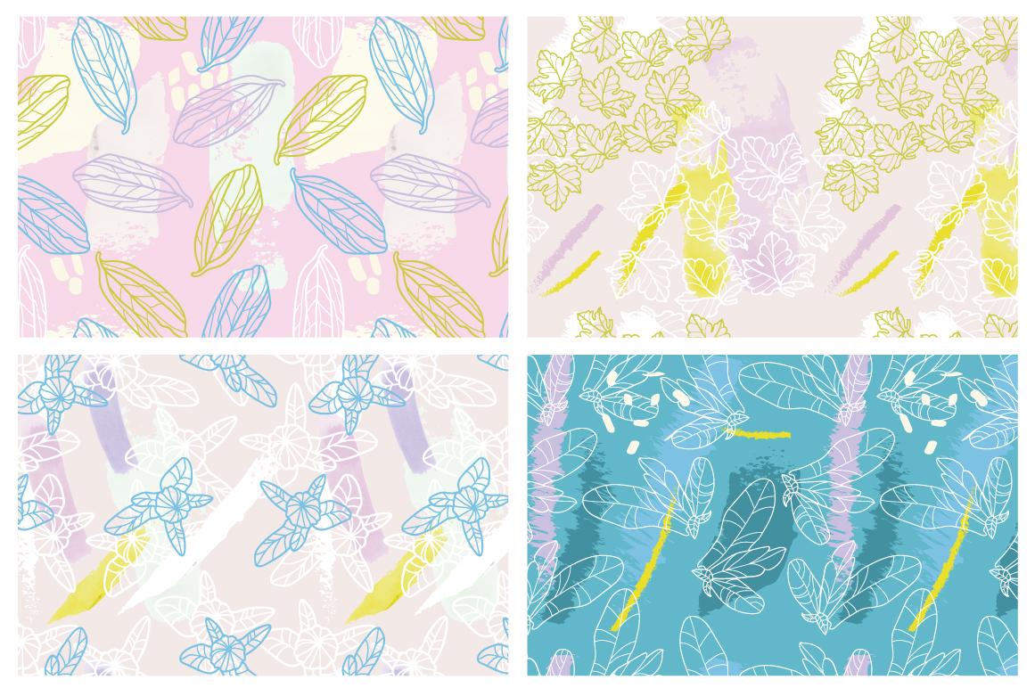 Botanical splash patterns example image 4