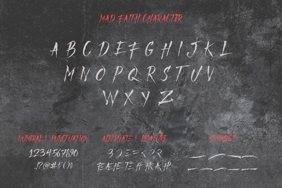 Mad Faith ~ Brush Font example image 8