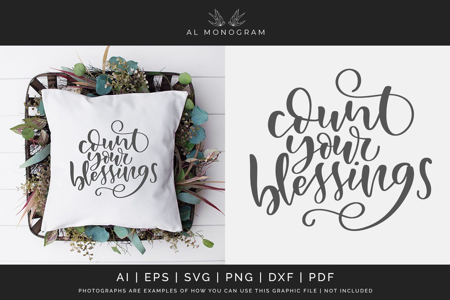 Count Your Blessings SVG Digital Laser Cut File example image 1