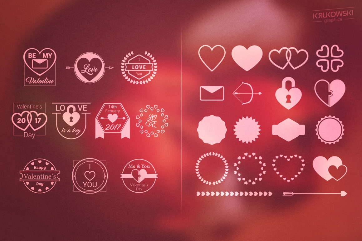 Valentine's Day Love Vector Badges Logos example image 5