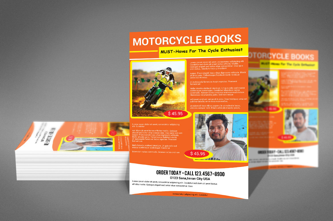 MOTORCYCLE BOOKS FLYER example image 3