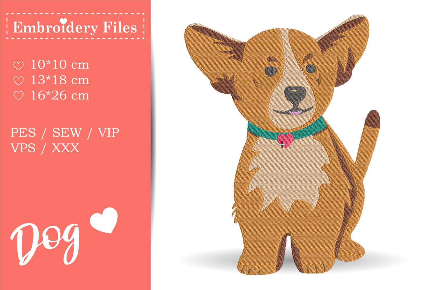 Dogs - Mini Bundle - Embroidery Files for Beginners example image 8