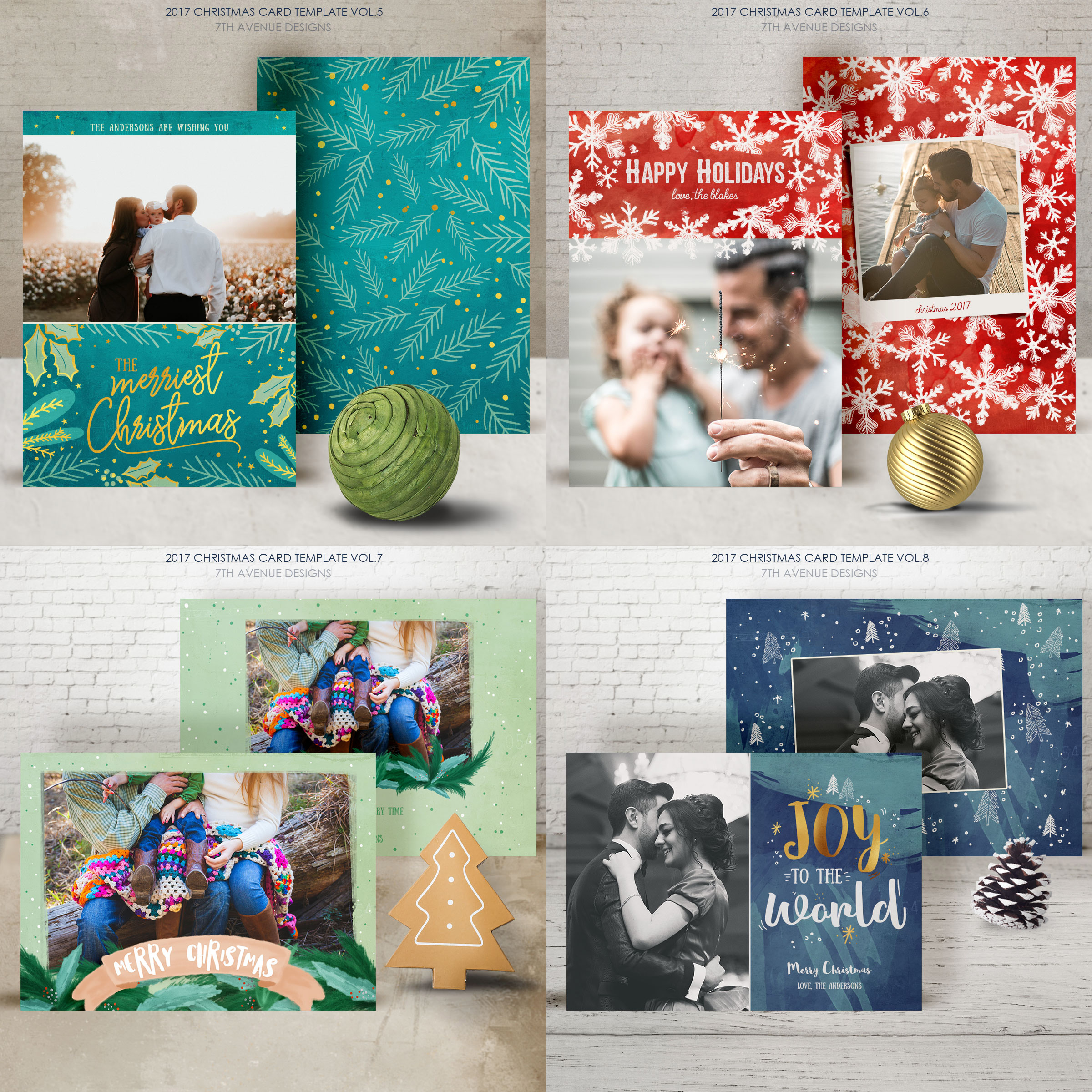 Christmas Cards Template v2 example image 3