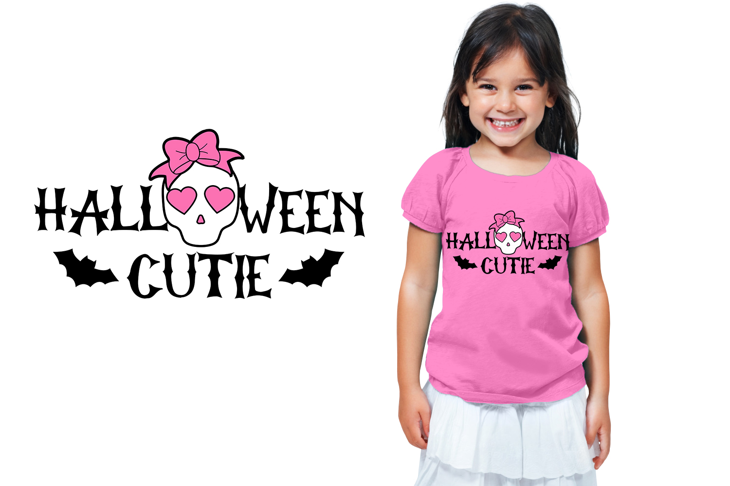 Halloween Cutie - Svg cut file for Girls example image 1