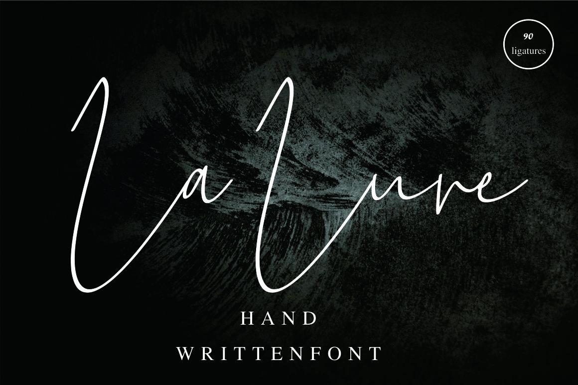 La Lune handwritten font example image 1