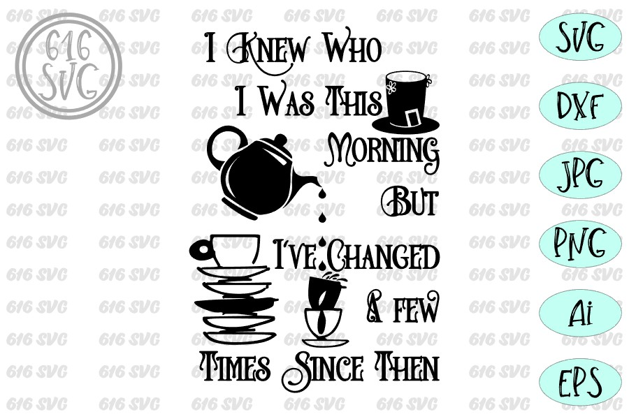 I knew who I was this morning but I've changed a few times example image 4