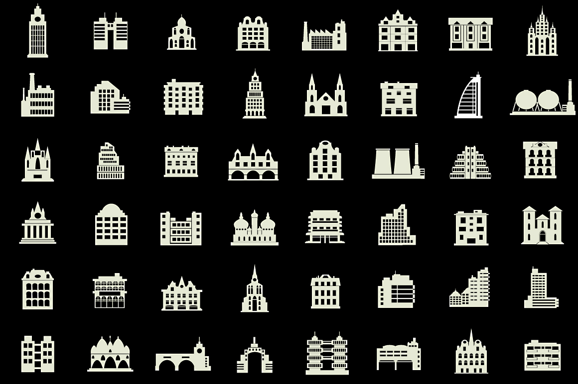 Set of vector buildings example image 4