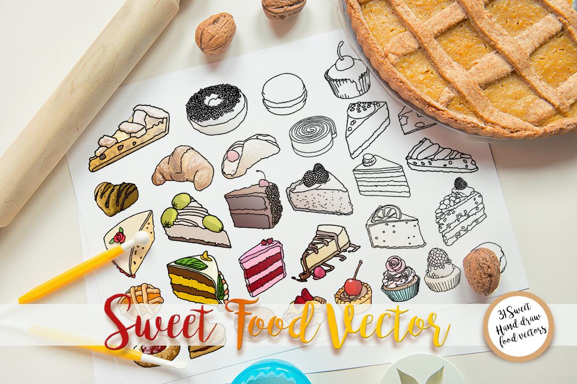 Sweet Food vector example image 4
