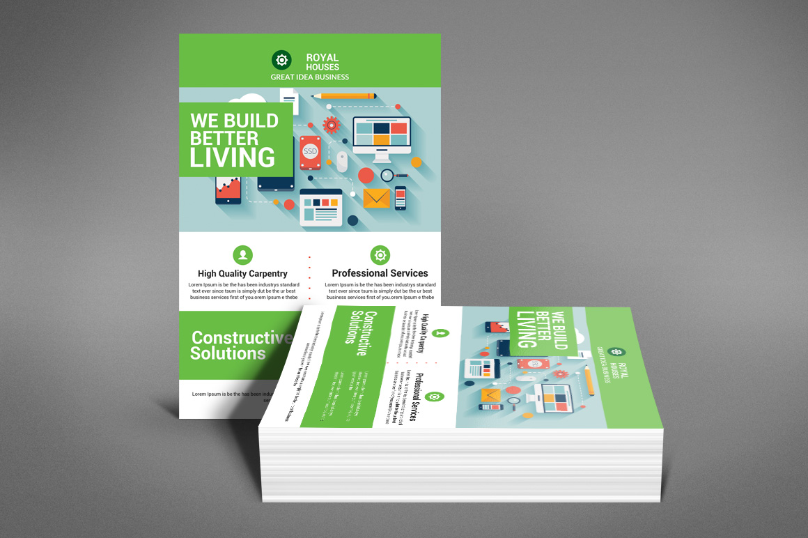 Construction Business Flyer example image 2