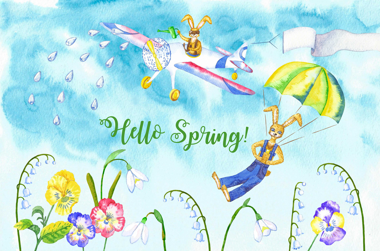 Welcome Spring! Rabbits Descent example image 3