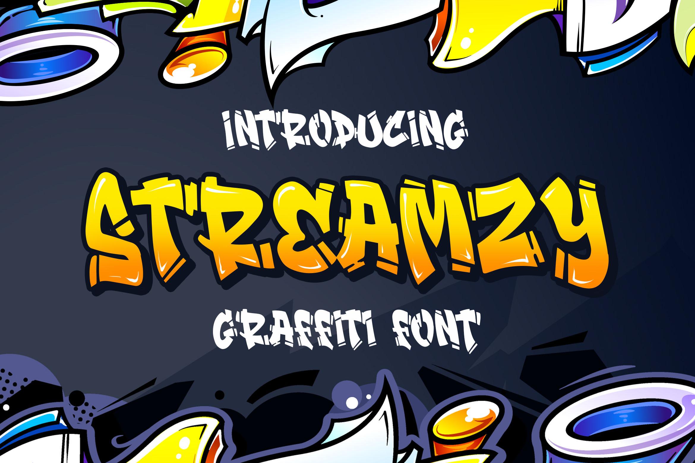 Streamzy - Graffiti Font example image 1
