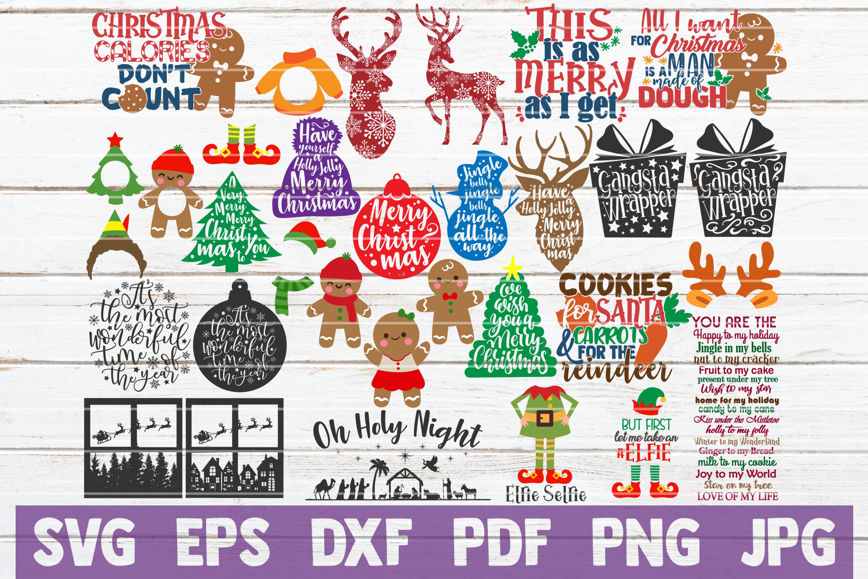 HUGE Christmas SVG Bundle |100 Holiday Designs SVG Cut Files example image 3
