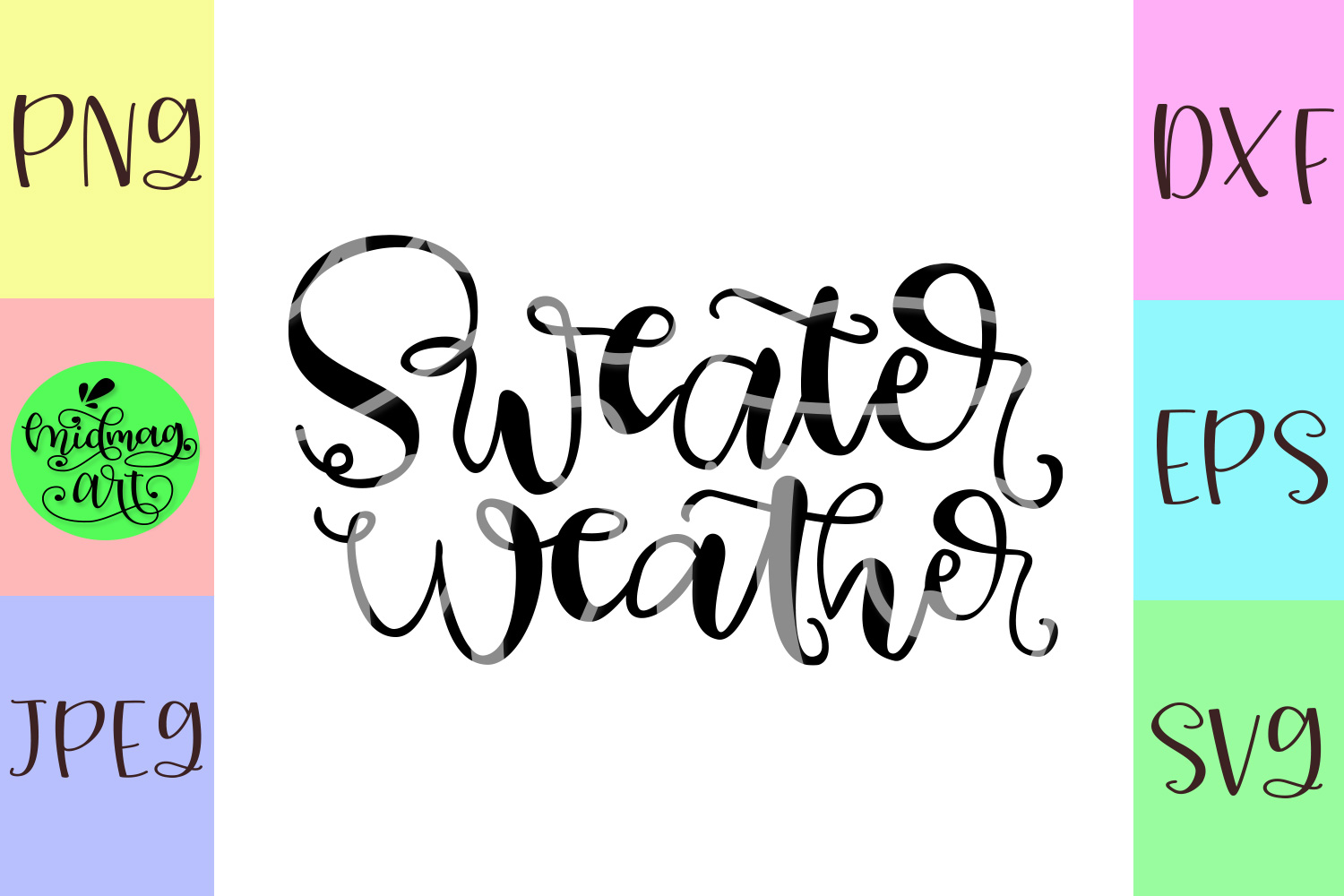 Sweater weather svg, fall svg example image 2