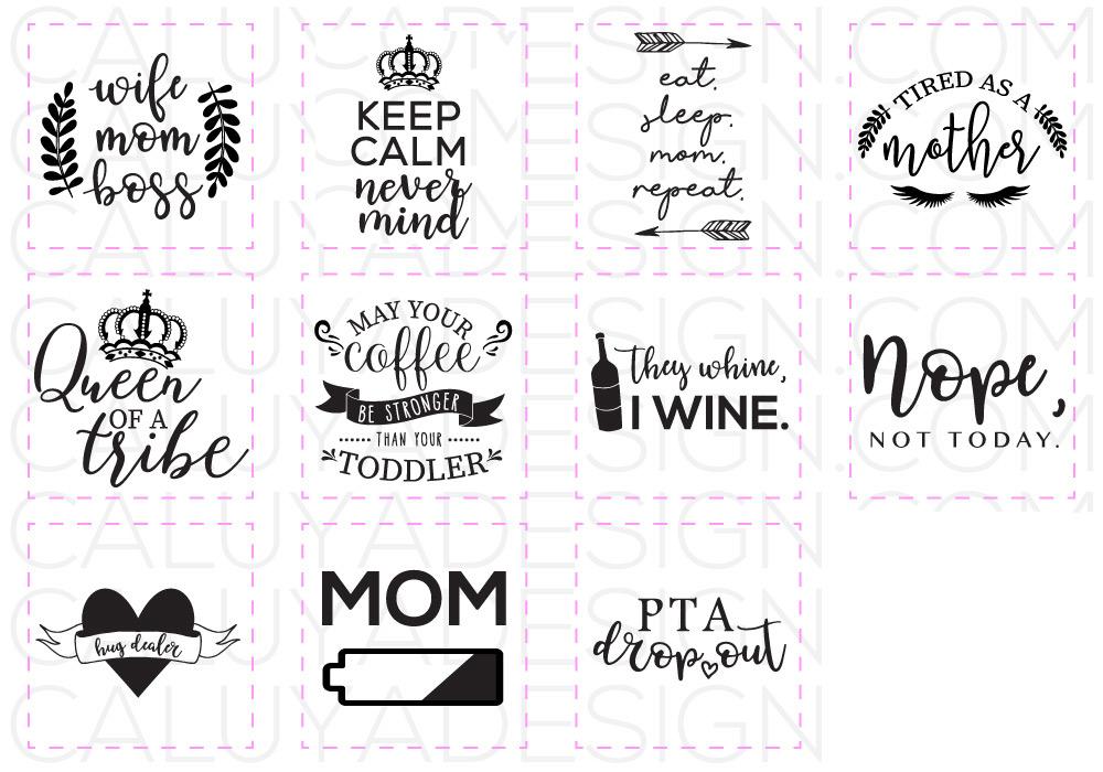 Mom Life SVG Cut File Bundle example image 2