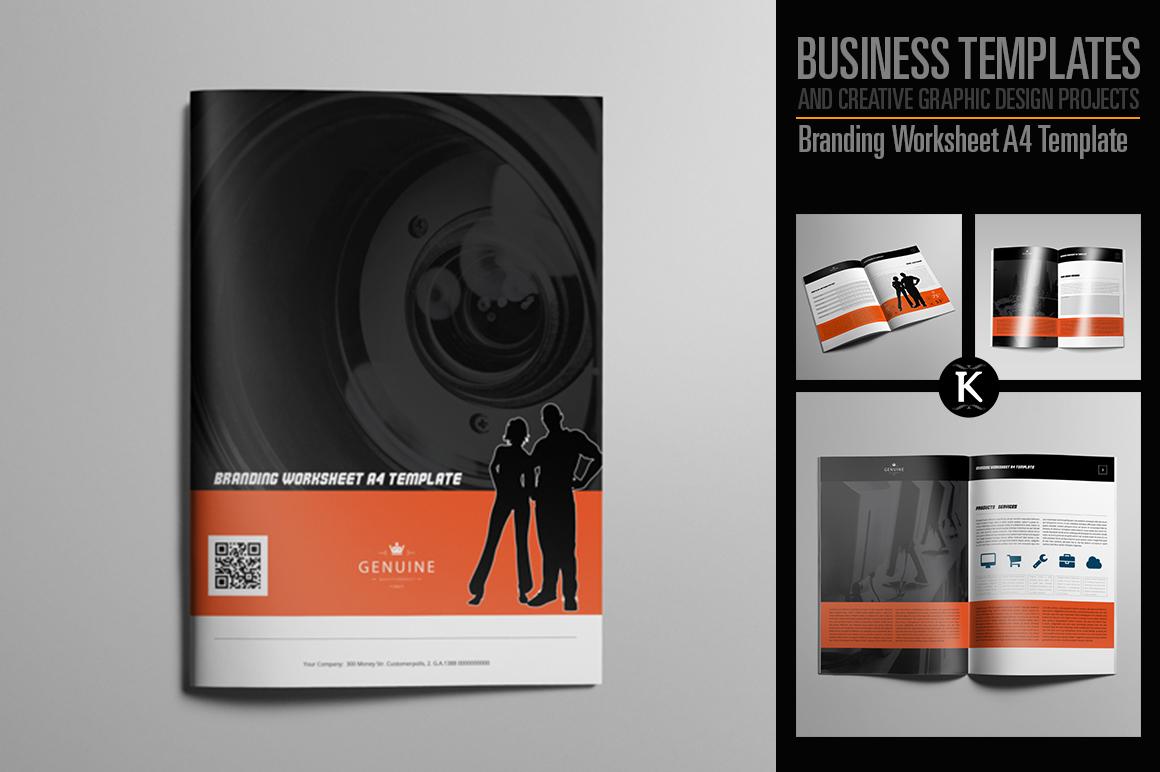 Branding Worksheet A4 Template example image 1