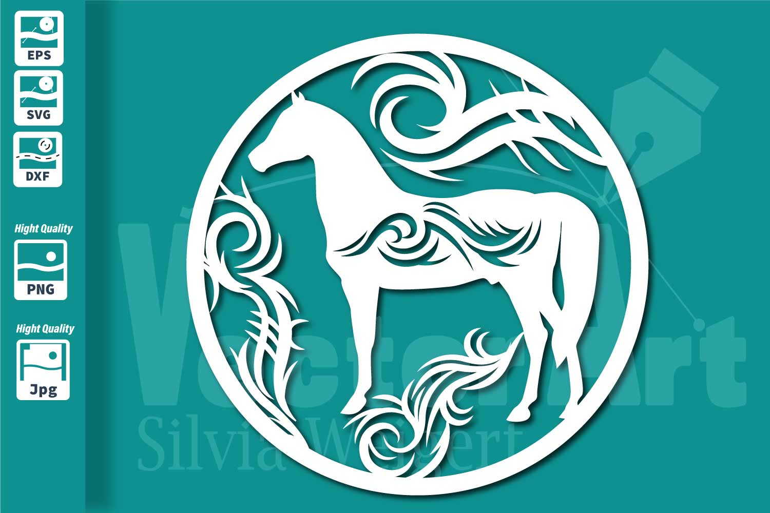 Horse - Cut File for Crafters example image 1