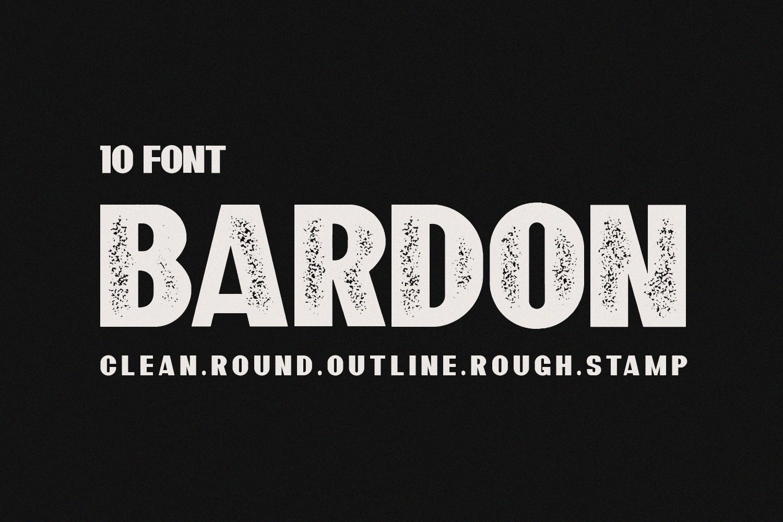 10 Font - Bardon Font Family example image 1