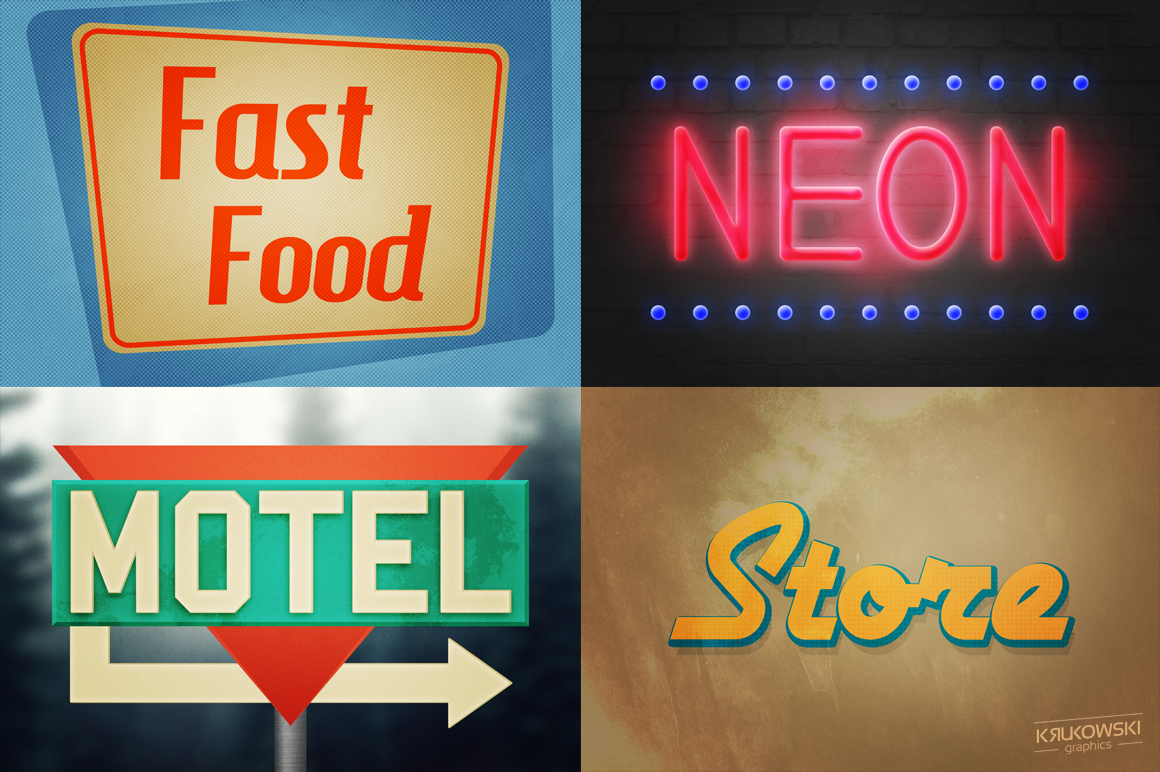 Vintage Sign Text Effects Mockup example image 2