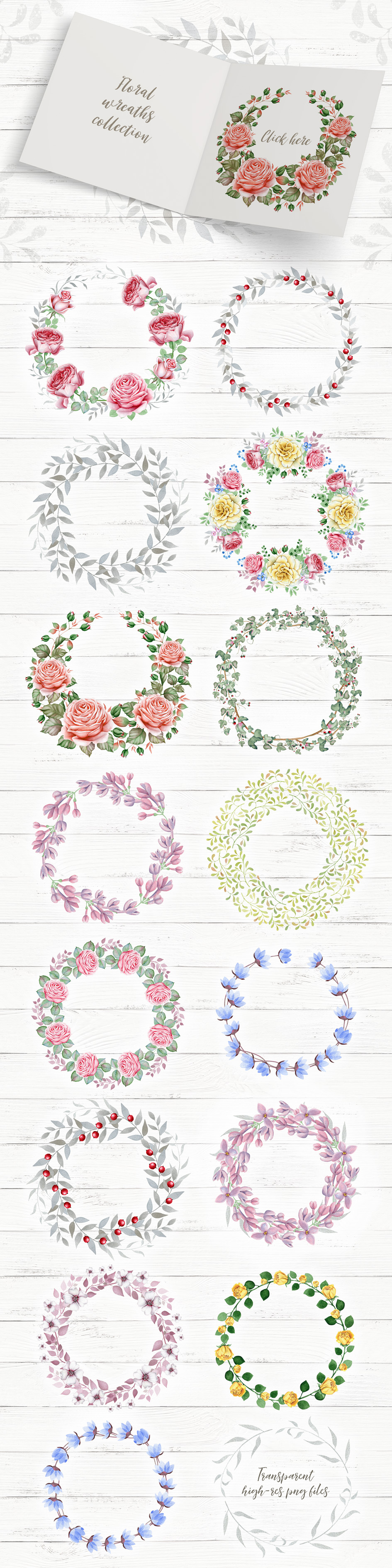 Wreaths and Bouquets collection V.3 example image 7